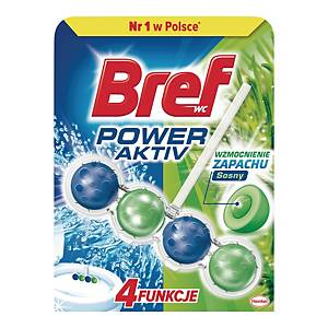 Kulki do toalet BREF Power Aktiv, 50 g, zapach leśny