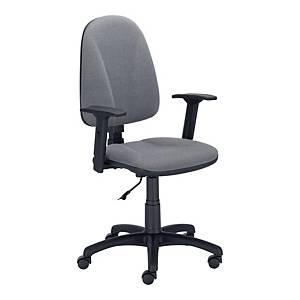 Krzesło LYRECO Premium Ergo z regulowanymi podłokietnikami, czarne