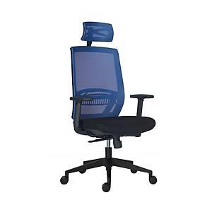 Kancelářská židle Antares Above Mesh, synchro, modrá