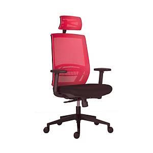 Kancelárska stolička Antares Above, červená & čierna