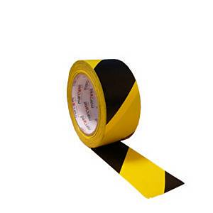 Floor Marking Tape Hazard 50mm x 30m - Black/Yellow