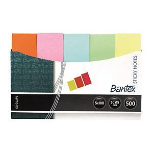 Bantex 辦得事 5色粉色便條紙 15mm x 50mm