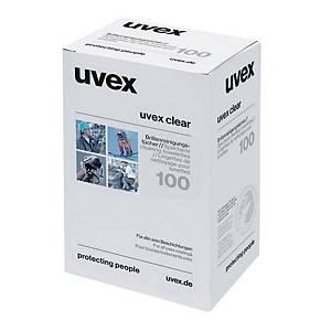 uvex Reinigungstücher für Brillen, 100 Stück