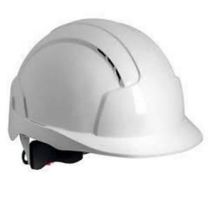 Jsp evolite wheel ratchet helm geventileerd wit