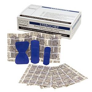 Cerotti assortiti blu Detectable - conf. 100