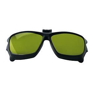 Flip saldatura ribaltabile occhiali Univet 5X9 lente verde filtri IR4