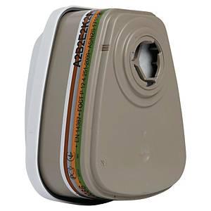 Filtre A2B2E2K2HgP3 R pour masque complet 3M 6800 Série 6000 - boîte de 4