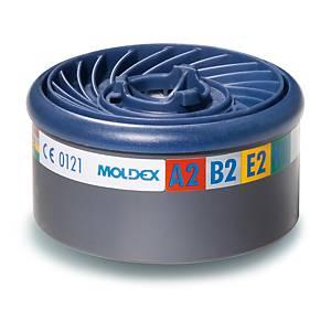 Filtri gas e vapori Moldex 9800 ABEK2 per semimaschere serie 7000/9000 - conf. 8