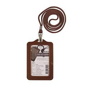 ARTSIGN M0084 ID CARD HOLD 61X93 LTH BROWN