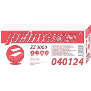 Skladané papierové utierky Primasoft ZZ 040124, biele