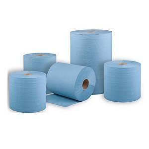 BM Plus Industrietücher 2-lagig blau recycelt, 2 Stück