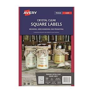 Avery 艾利 L7125/ 980020 透明方形標籤 35 x 35毫米 每張35個標籤