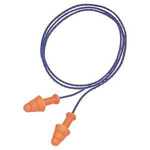 Ørepropper med snor Honeywell Smartfit, orange/blå, pakke a 50 par