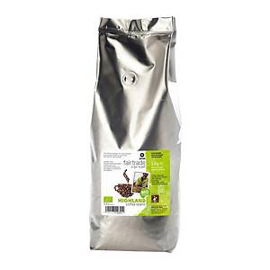 Oxfam Fairtrade Highland Bio koffiebonen, pak van 1 kg