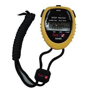Water Resistant Stopwatch Yellow