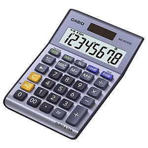 Calcolatrice da tavolo Casio MS-88TER II, visual. 8 cifre, blu metallico