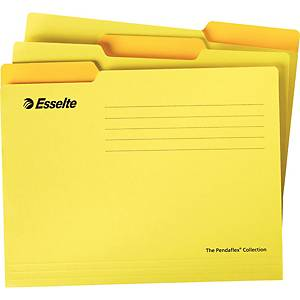 ESSELTE แฟ้มแขวน 925 A4แพ็ค 10เล่ม สีเหลือง