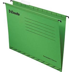 ESSELTE แฟ้มแขวน 925 A4 แพ็ค 10เล่ม สีเขียว