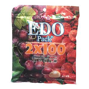EDO Pack Gummy Lychee & Grape 120g