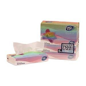 Dear Soft Soft Pack Tissue 2-ply - Pack of 5