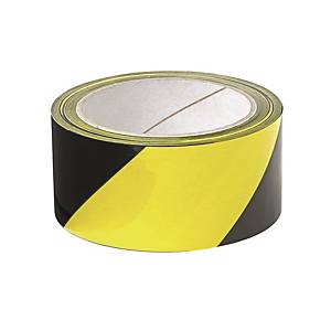 Warning Adhesive Tape 48mm x 25m Black/yellow