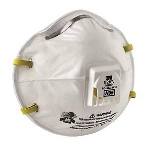 3M 防塵帶呼氣閥口罩 8210V N95 10個裝