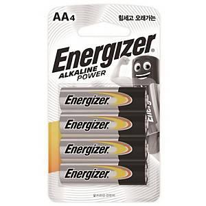 에너자이저 알카라인 건전지 AA 4개입
