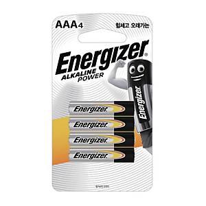 에너자이저 알카라인 건전지 AAA 4개입