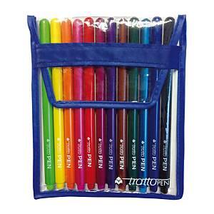 Pennarelli Tratto Pen Metal punta 0,5 mm colori assortiti - conf. 12