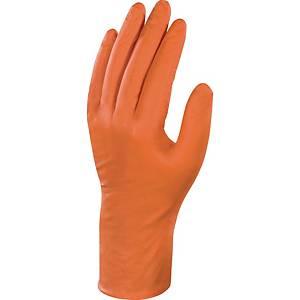 Deltaplus Veniplus handschoenen, ongepoederd nitril, oranje, maat 9/10, per 50