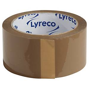 Lyreco Budget Packaging Tape 50mm 66m Brown - Pack Of 6
