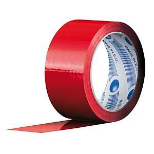 Nastro da imballo Biesse PP 50 mm x 66 m rosso - conf. 6