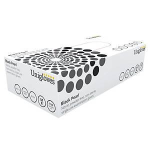 Gants Unigloves Black Pearl 2503 - nitrile - taille M - 100 gants