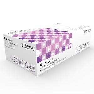 Unitrile UT02 Nitrile/Vinyl PowderFree Disposable Gloves Blue Medium Box of 100