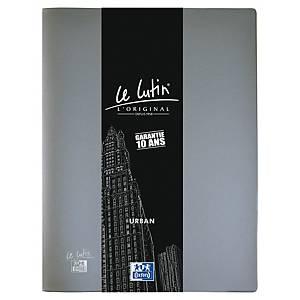 Porte vues Oxford Le Lutin Urban - PVC opaque - 20 pochettes - gris métal