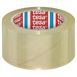 Pack de 6 fitas adesivas de embalagem Tesa 4195 - 50 mm x 66 m - transparente