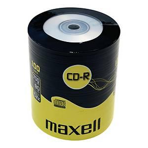 Płyty CD-R MAXELL MX100S 52x, szpindel 100 sztuk