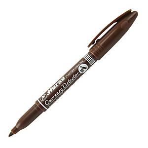 ตราม้า ปากกาตรวจสอบธนบัตร ด้ามสีน้ำตาล