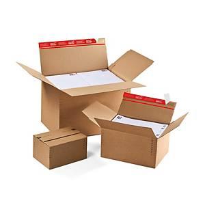 ColomPac CP141.101 postituspakkaus A5 tarrasuljenta 229 x 165 x 50-115mm ruskea