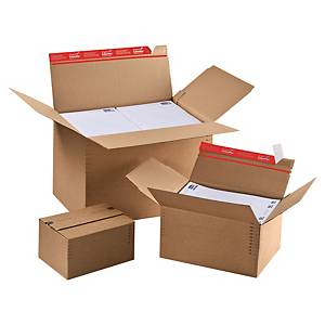 ColomPac® állítható magasságú doboz, 229 x 164 x 50 - 115 mm, 10 darab