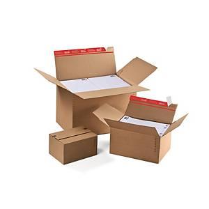 Boîte d expédition Colompac, 304 x 216 x 130-220 mm, marron