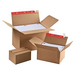 Shipping box variable height - autom. bottom 445x315x180-300 brown