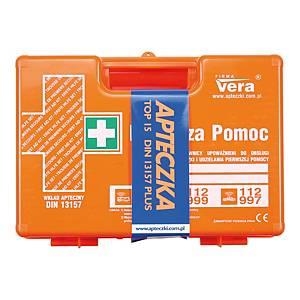 Apteczka VERA TOP 15 PLUS, DIN 13157, w walizce z ABS