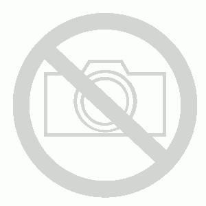 Skolehefte Bantex, A4, 1/2 side blank, 1/2 side 6+7+6+10 mm linjert, rød