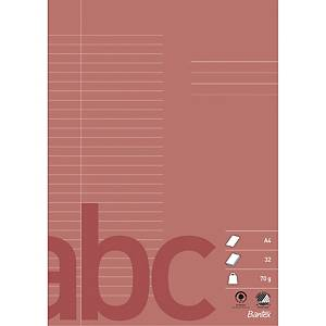 Skrivehefte Bantex, A4, 64 sider, 70 g, 29 linjer