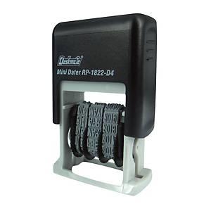 Deskmate RP-1822 D4 BK Self-Inking Date Stamp Black 4mm