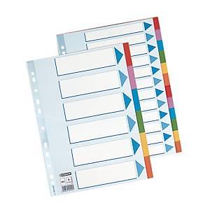 Intercalari neutri Esselte A4 cartoncino 6 tasti colorati