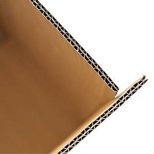 Scatola americana cartone Kraft onda doppia 250 x 180 x 140 mm avana - conf. 20