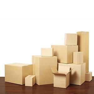 Scatole americane cartone Kraft onda doppia 600 x 400 x 400 mm avana - conf. 10