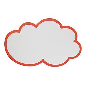 Moderationswolken Franken UMZ WG, Maße: 62x37cm, weiß mit rotem Rand, 20 Stück